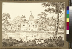 The Makandi Dewul temple beside the Beturni Tank, near Gaya (Bihar). 29 December 1824.
